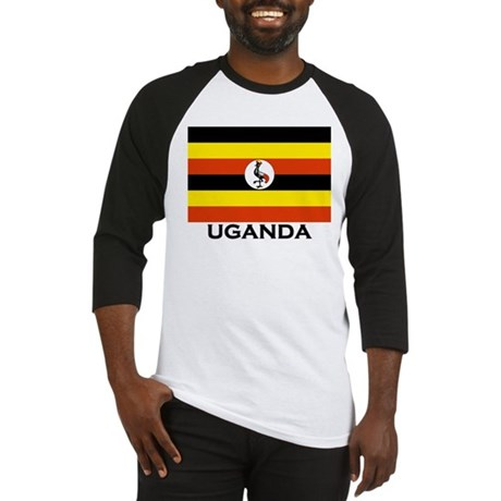 Uganda Flag Merchandise Baseball Jersey