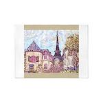 Paris Inspired Pointillism Eiffel Tower by Kristie