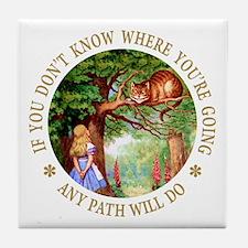 Any Path Will Do Tile Coaster
