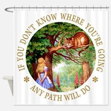 Any Path Will Do Shower Curtain