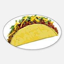 Taco Sticker (Oval)