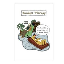 Reindeer Therapy Postcards (Package of 8)