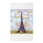 Eiffel Tower Pointillism by Kristie 3'x5' Area Rug
