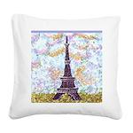 Eiffel Tower Pointillism by Kristie Square Canvas