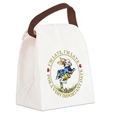 I'm Late, I'm Late! Canvas Lunch Bag