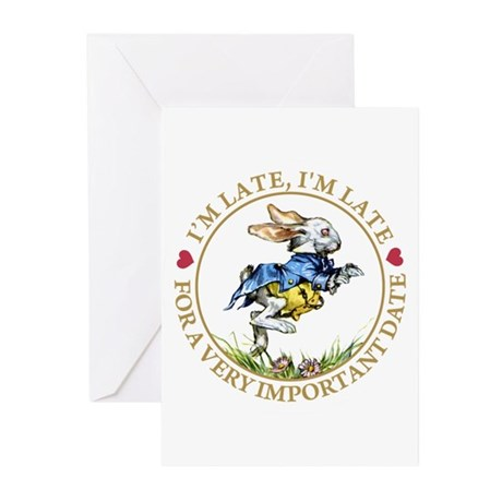 I'm Late, I'm Late! Greeting Cards (Pk of 20)