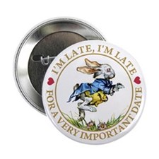 """I'm Late, I'm Late! 2.25"""" Button (10 pack)"""