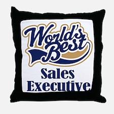Sales Executive (Worlds Best) Throw Pillow
