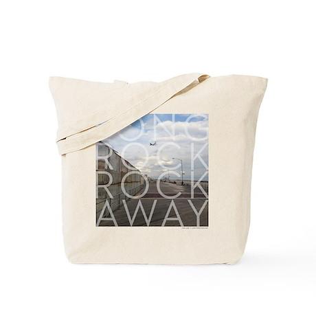Long Rock Rockaway Boardwalk Airplane Tote Bag