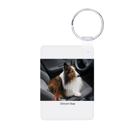 Drivers Seat Aluminum Photo Keychain