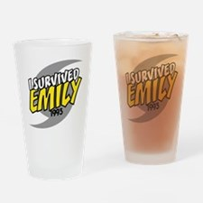 I Survived EMILY Drinking Glass