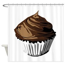 Chocolate cupcake Shower Curtain