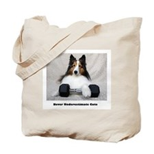 Never Underestimate Cute Tote Bag