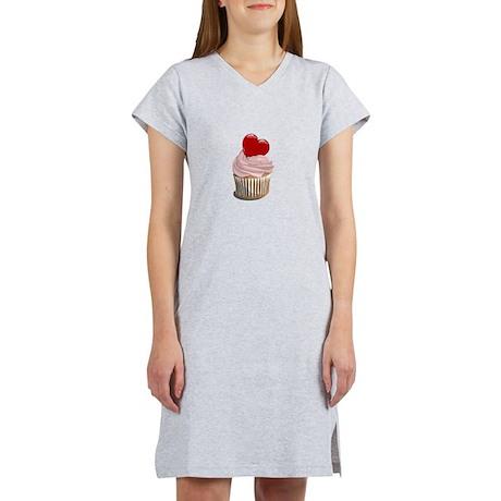 Valentine's day cupcake Women's Nightshirt