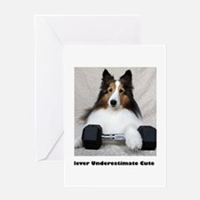 Never Underestimate Cute Greeting Card
