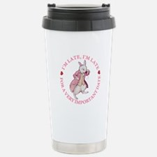 I'm Late, I'm Late! Travel Mug