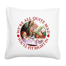 MAD HATTER'S TEA PARTY Square Canvas Pillow