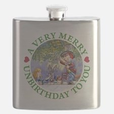 A VERY MERRY UNBIRTHDAY Flask