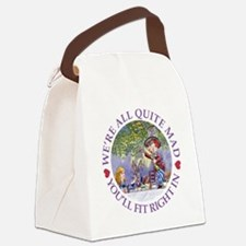 MAD HATTER'S TEA PARTY Canvas Lunch Bag