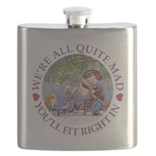 MAD HATTER'S TEA PARTY Flask