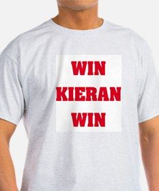 WIN KIERAN WIN Ash Grey T-Shirt