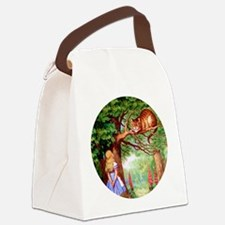 ALICE_cheshire_cat_rd copy.png Canvas Lunch Bag