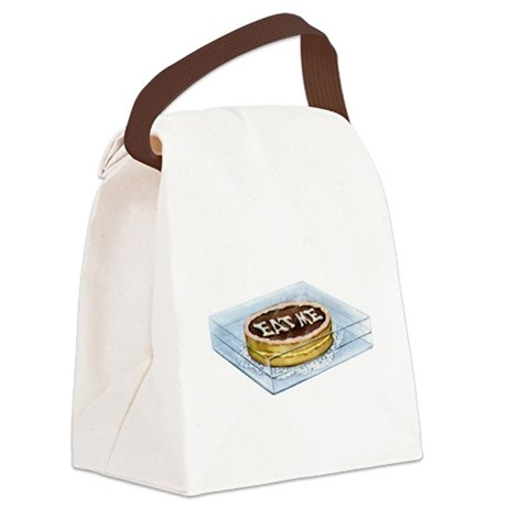 Alice Maraja045_Eat Me.png Canvas Lunch Bag