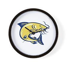 Catfish Jumping Retro Wall Clock