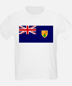 The Turks & Caicos Islands Flag Picture Kids T-Shi