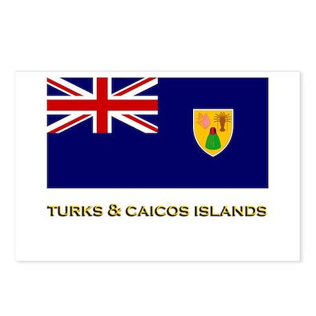 The Turks & Caicos Islands Flag Stuff Postcards (P