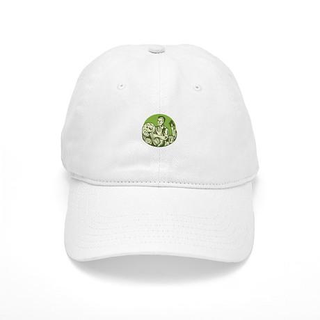 Organic Farmer Green Grocer Vegetable Retro Cap