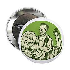 """Organic Farmer Green Grocer Vegetable Retro 2.25"""""""