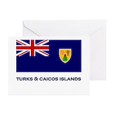 The Turks & Caicos Islands Flag Gear Greeting Card