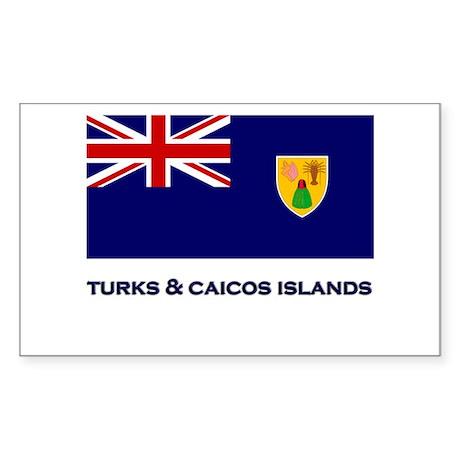 The Turks & Caicos Islands Flag Gear Sticker (Rect