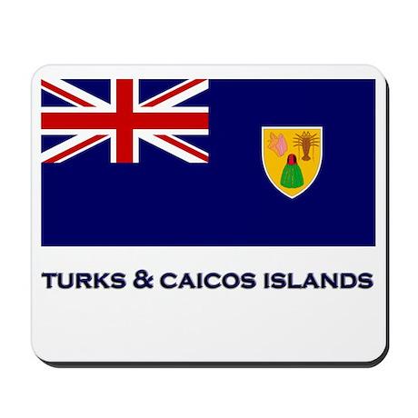 The Turks & Caicos Islands Flag Gear Mousepad