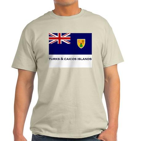 The Turks & Caicos Islands Flag Gear Ash Grey T-Sh