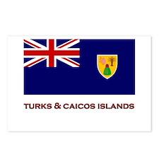 The Turks & Caicos Islands Flag Merchandise Postca