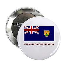 The Turks & Caicos Islands Flag Merchandise Button
