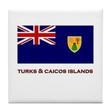 The Turks & Caicos Islands Flag Merchandise Tile C
