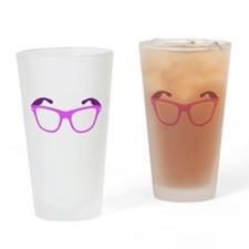Pink Geeky / Nerdy Glasses Drinking Glass
