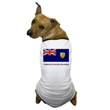The Turks & Caicos Islands Flag Merchandise Dog T-
