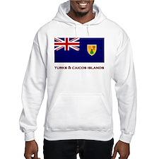 The Turks & Caicos Islands Flag Merchandise Hoodie
