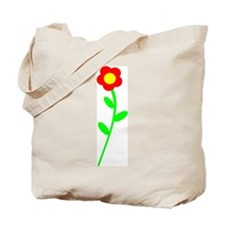 Pretty Red Flower Tote Bag