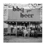 BBQ & Beer Vintage Saloon Tile Coaster