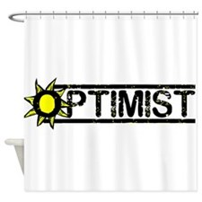 optimist.jpg Shower Curtain