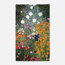 Gustav Klimt Flower Garden 3'x5' Area Rug