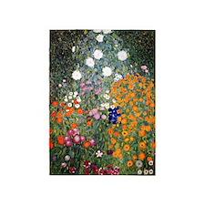 Gustav Klimt Flower Garden 5'x7'Area Rug