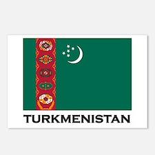 Turkmenistan Flag Stuff Postcards (Package of 8)