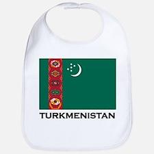 Turkmenistan Flag Stuff Bib