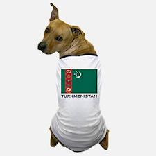 Turkmenistan Flag Stuff Dog T-Shirt